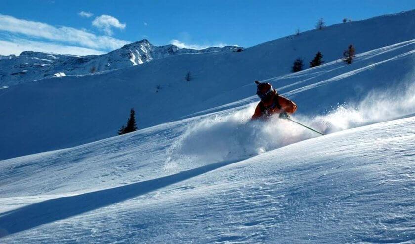 Man skiing in Verbier