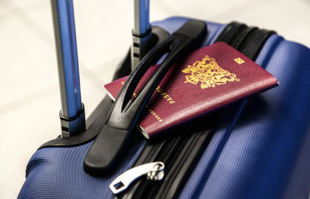 Passport and a suitcase