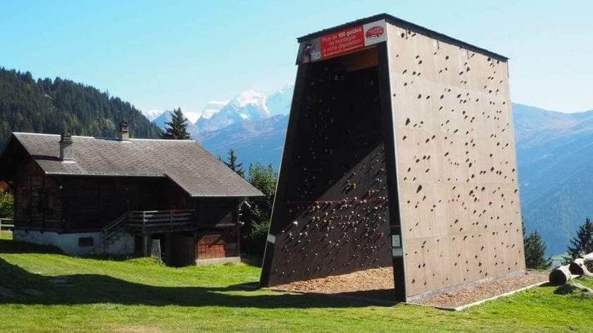 Rock for climbing in Verbier