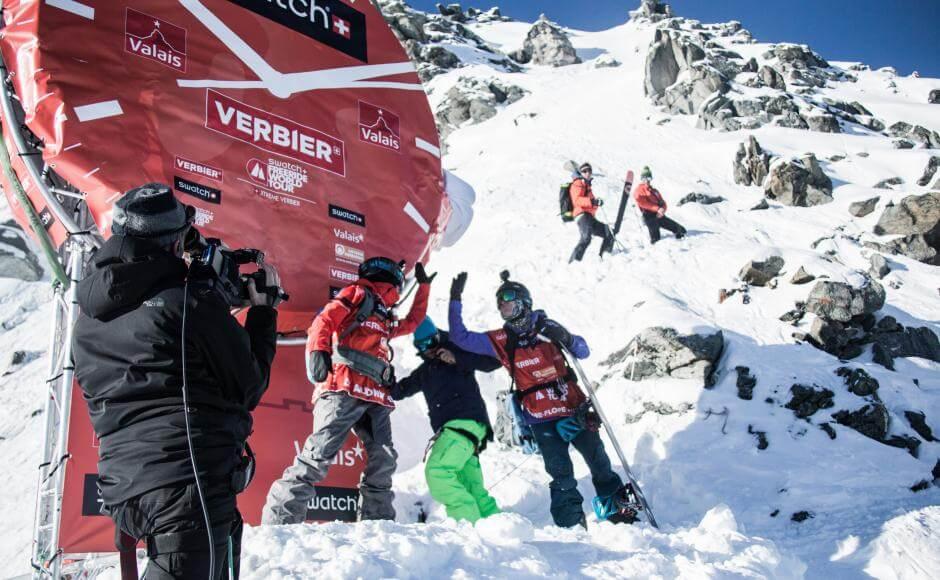 Freeride World Tour skiing