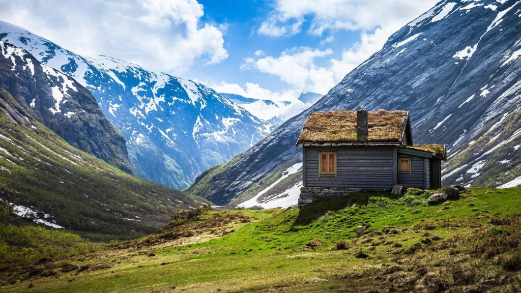 Rustic house in the mountains