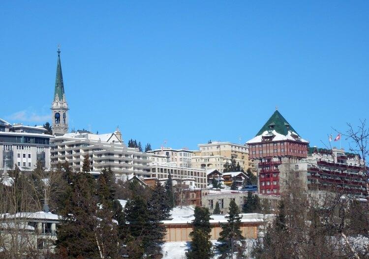 St Moritz center view