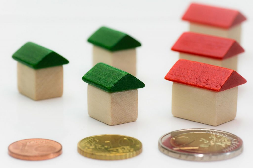 coins and houses toy