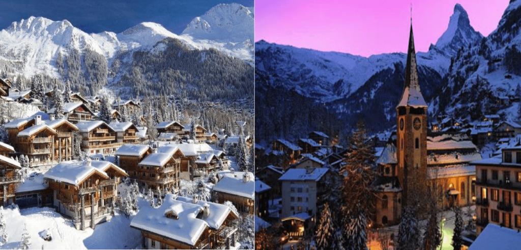 Verbier vs Zermatt city centres