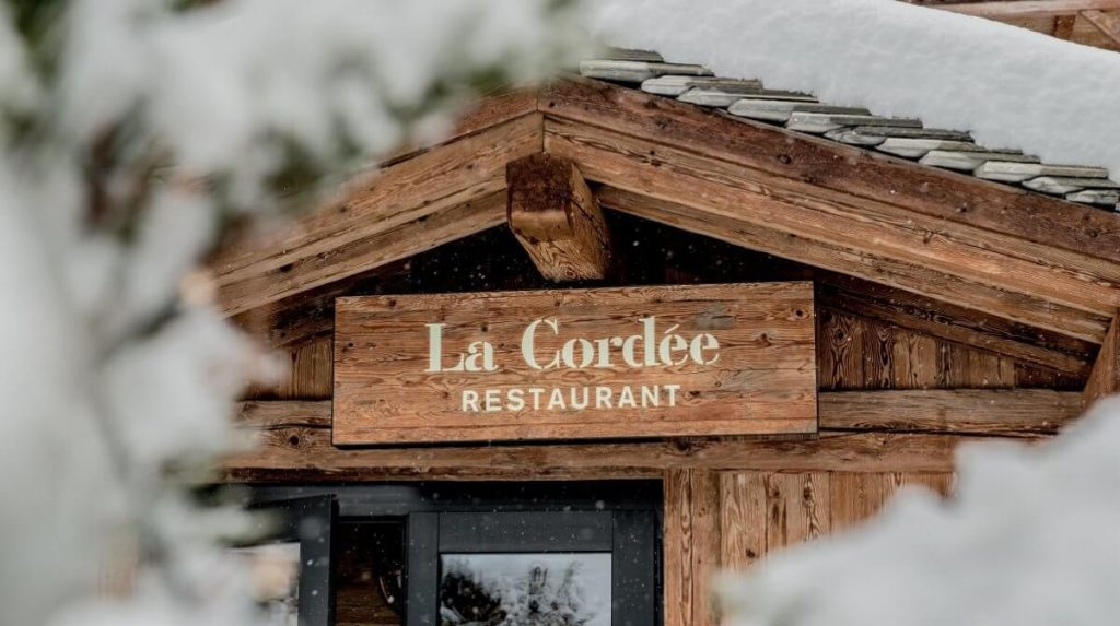 La Cordee restaurant Verbier exterior