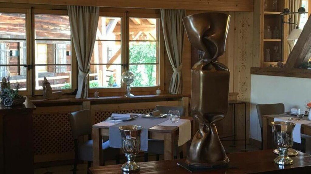 La Table d'Adrien restaurant in Verbier interior