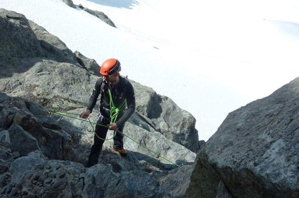 Man on the mountain via cordata