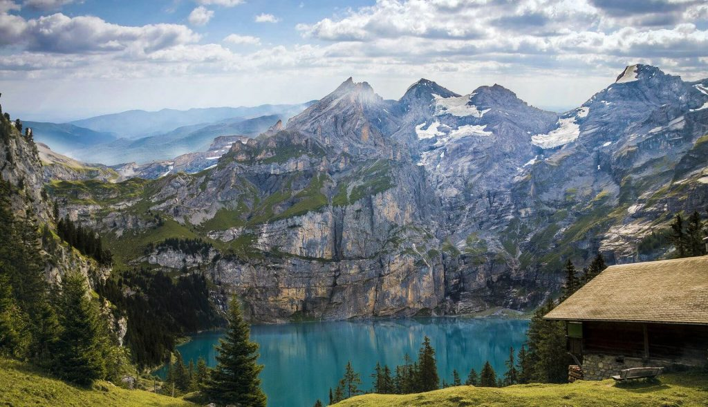 Lake under the mountain